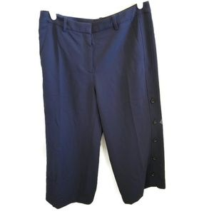 WHBM Cropped wide leg pants guachos blue
